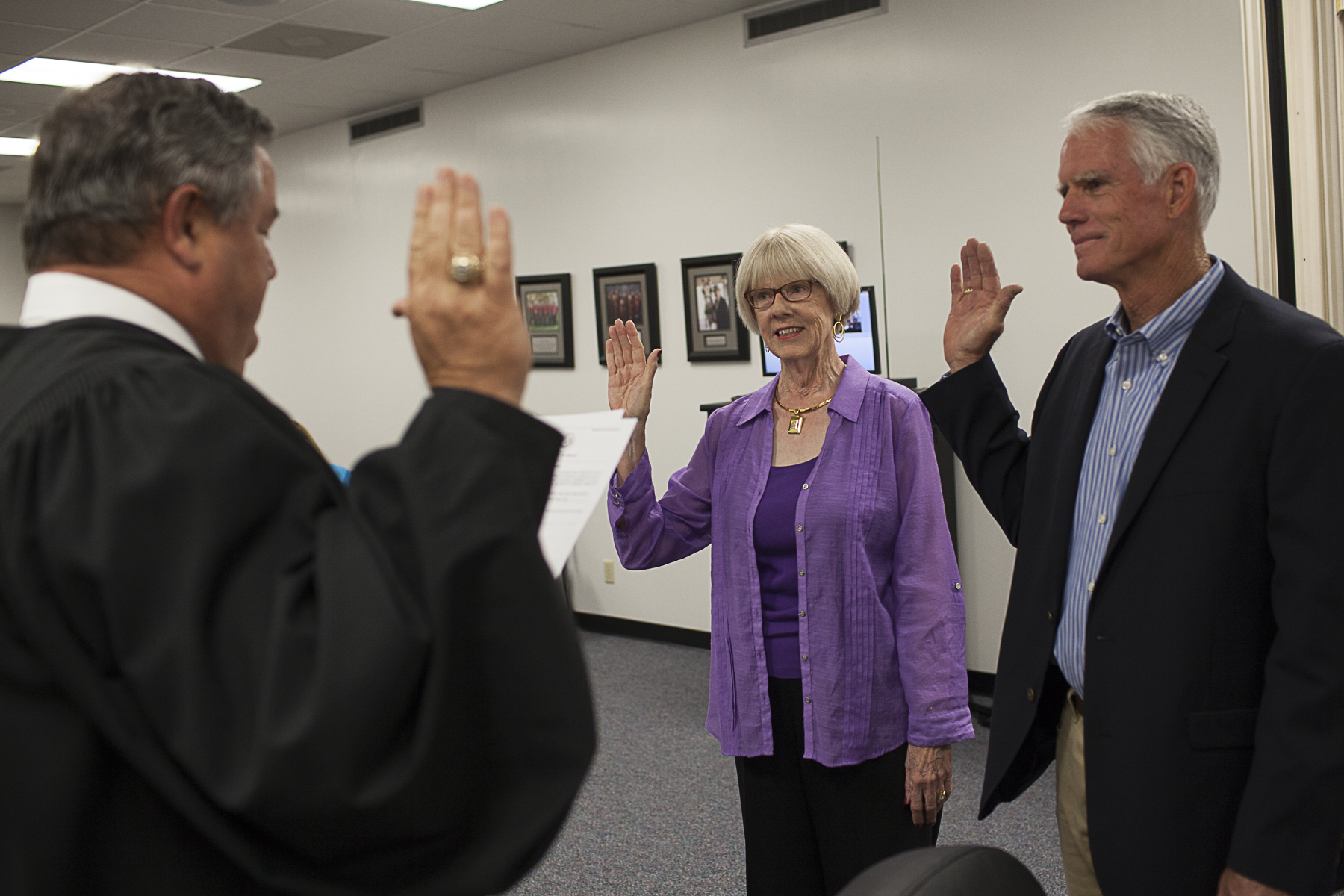 BOARD OF TRUSTEES MEMBERS SWORN IN