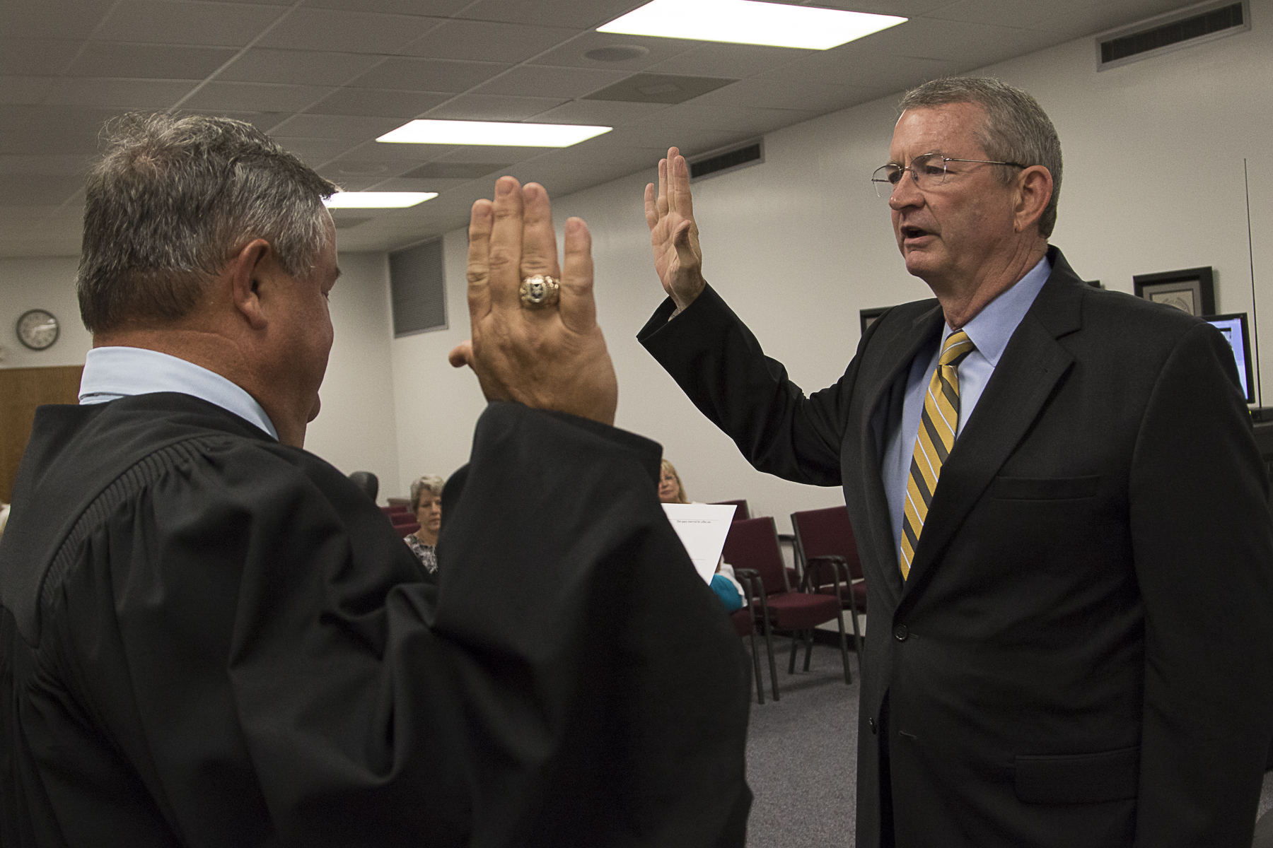 BOARD OF TRUSTEES MEMBERS SWORN IN POPE