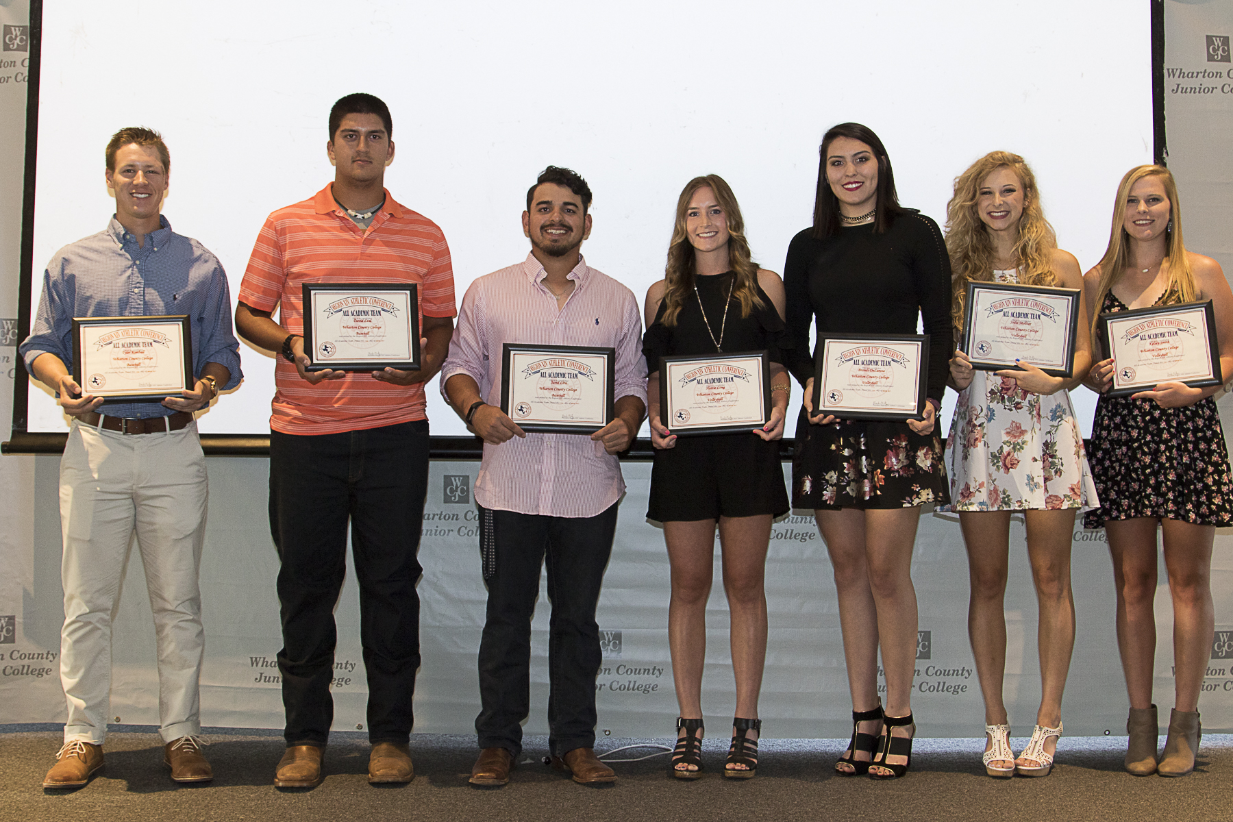 Wharton County Junior College student athletes were recognized for excellence both on and off the playing field at the 54th Annual Athletic Banquet,
