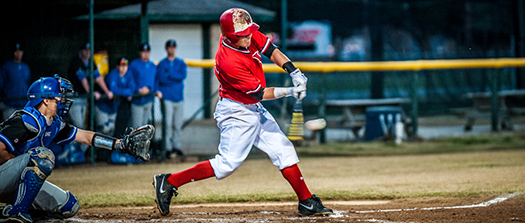WCJC Baseball team member swings