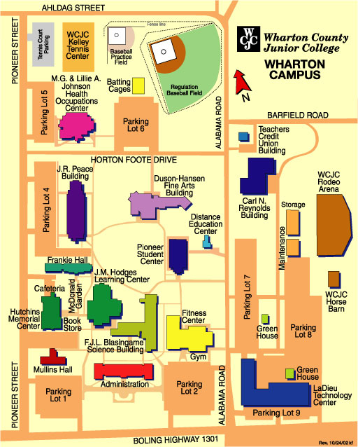 WCJC Wharton Campus Map